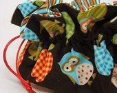 Apples and Owls Eight Pocket Travel Pouch