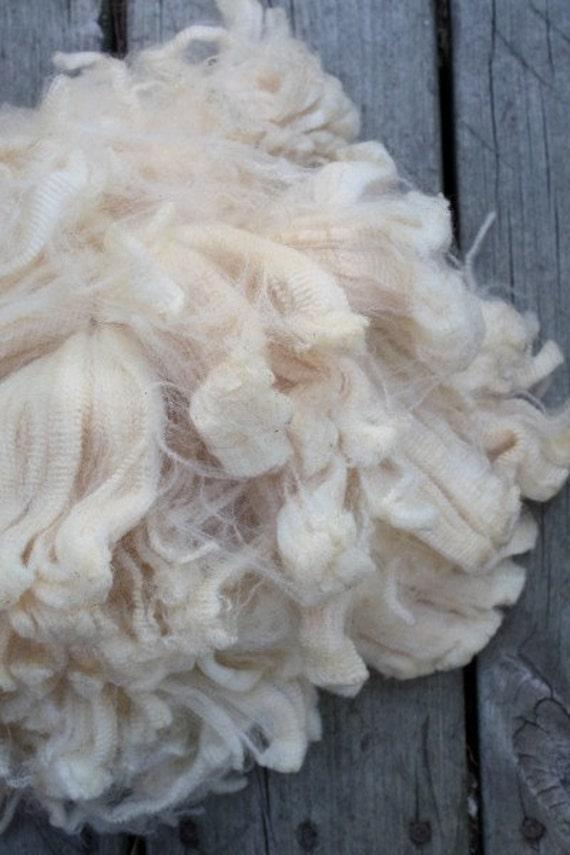 coated raw merino fleece