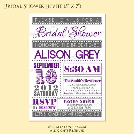 Custom Modern Vintage Retro Bridal / Baby Shower Party Invitation Invite Digital Design - Typography / Dots / Old Fashioned - Printable