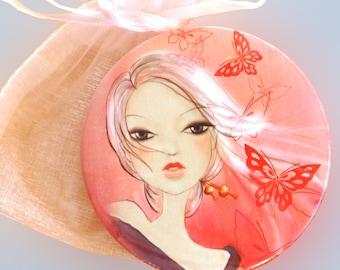 Geisha girl Ai Pocket mirror