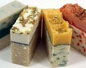 4 PREMIUM Artisan Handmade Coconut Milk Soaps - your choice of scents