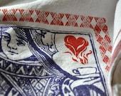 Queen of Hearts Hand-Printed Kitchen Towel