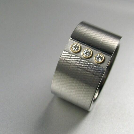 3 Diamond Wedding Ring