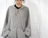 SALE - Winged Hoodie Cape style Jacket size - Medium / One Size