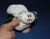 Embroidered Boo-boo Bunny for Baby, Shower, Gift, or Easter Basket   WHITE