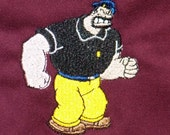 "APRON Bluto or Brutus Embroidered on BBQ Barbecue Apron for Home or Grill 30""  Burgundy"