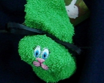 Embroidered Boo-boo Bunny Ice Pack GREEN Gift Basket Item