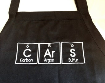 """CArS Periodic Table BBQ Apron Embroidery 34"""" Ready to Ship"""