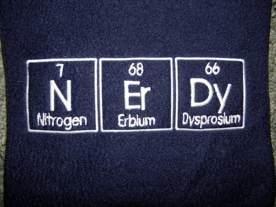 NErDy Scarf Chemistry Nerd Science Geek - Made to Order