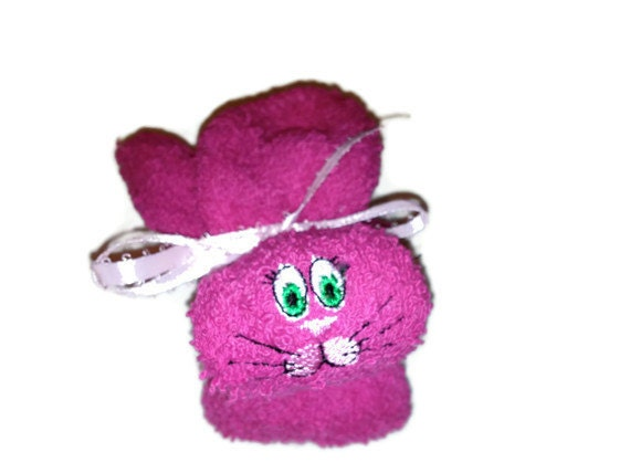 Ice Pack Boo-boo Bunny Basket Stuffer HOT PINK Rabbit Embroidered