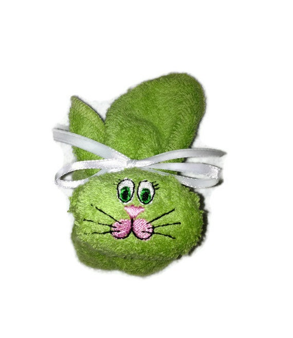 Embroidered Boo-boo Bunny Ice Pack Light Soft Green Rabbit