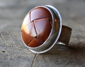 scholar button ring