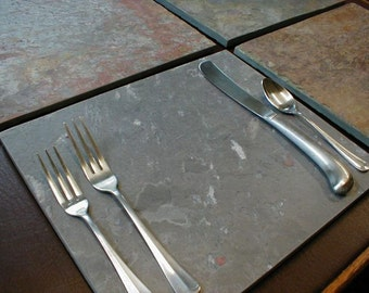 Natural Stone PLACEMATS & COASTERS - Slate Place Mats - Coordinating Drink Coasters