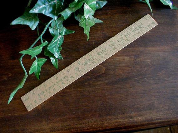 SMOKEY THE BEAR - Vintage Ruler Straight Edge Desk Accessory
