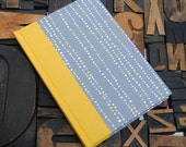 Journal - Small Lined Grey, Yellow and White Dots