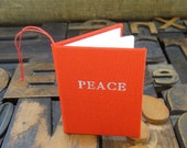 Christmas Ornament - Miniature Red Peace Book