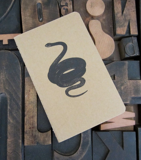 Black Snake Gocco Unlined Notebook