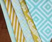 Yellow and Aqua Boy Themed Bunting.  Ready To Ship.  Photo Prop, Nursery Decoration, Party Banner.