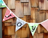 Joy Bunting Decoration, Merry Christmas Holiday Banner, Photo Prop, Party Decor. Designer's Choice