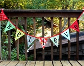 Bunting Decoration, 'Believe' Holiday Banner, Photo Prop, Bunting. Very Chic. Custom Available.