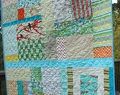 Custom Earthy Toddler Quilt.  Gender Neutral for a Great Shower Gift Idea. Made To Order.