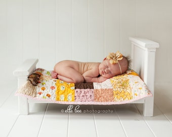 Custom Doll Quilt, Layering Photo Prop Set up for Boys, Girls or Gender Neutral. You Choose Colors. Also for your American Girl Doll.