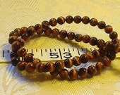 gemstone tiger eye brown round beads 6mm/30 pieces//half strand