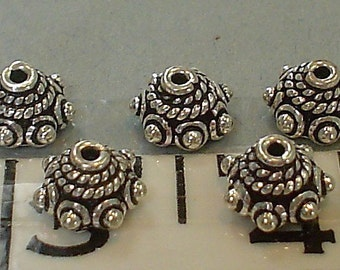 sterling silver hand made bead cap spacer 8 mm/5 pieces get 1 get 1 free......