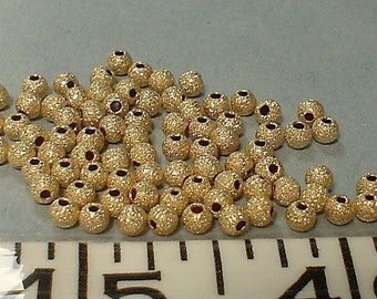 14kt gold filled stardust round bead 3 mm/10 piece..... buy 1 get 1 free