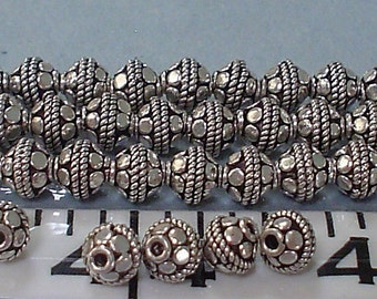 Sterling silver handmade spacers ball 6 MM/5 pieces buy one get one free