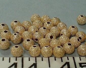 14kt gold filled stardust round bead 6.5 mm/5 piece