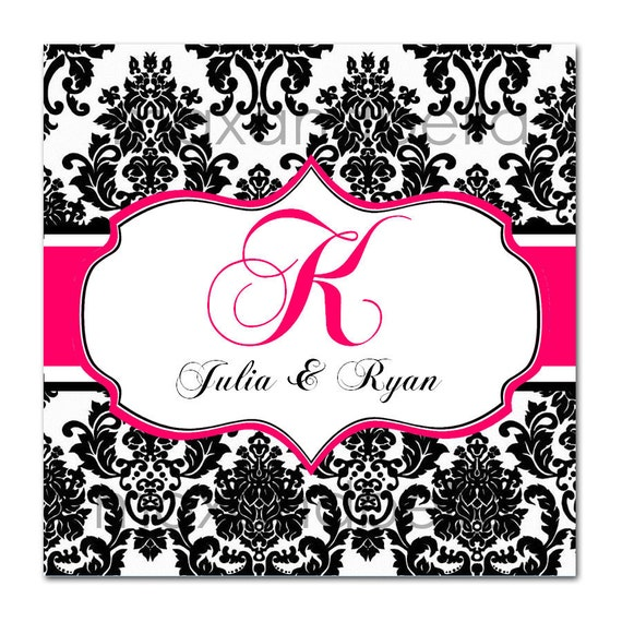 Damask Ornate Border Wedding Labels Personalized Stickers, Seals,  Address Labels, Party Favor, Gift Tags - Set of 20