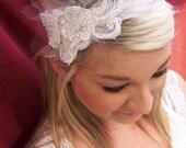 Ivory Lace and Netting Headband