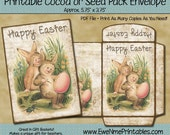 Printable Seed/Cocoa Packet - Bunny Kids Two - Digital PDF File