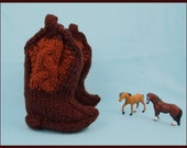 Giddy up Baby Boot Knitting Pattern