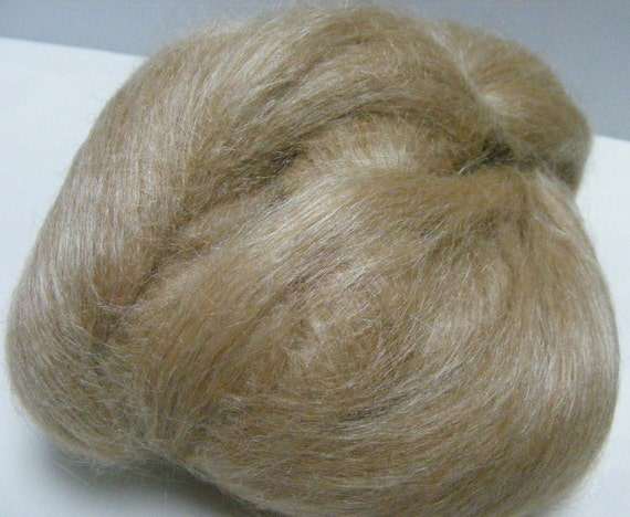 Fawn Alpaca and Tussah Silk blend