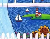 Ocean Window seascape view cottage coastal Shelagh Duffett print