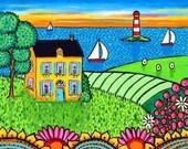 Nova Scotia Sunset Cottage - print Shelagh Duffett