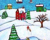 Nova Scotia Winter - print Shelagh Duffett