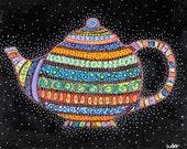 Celestial Teapot - Print