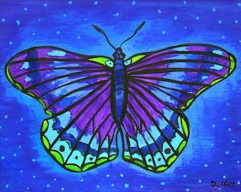 Cobalt Blue Butterfly Dream - Print -Shelagh Duffett