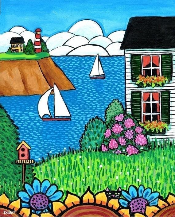 White House Lighthouse, Nova Scotia  Print Shelagh Duffett