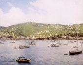 Saint Thomas Polaroid - Fine Art Limited Edition Polaroid Giclee Print - Nautical, Caribbean, Boating