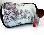 LAST ONE - Polaroid Photo Pouch - Cherry Blossoms - Cosmetic Bag, Pencil Case, Clutch - Great for Bridesmaids, Back to School, Etc.