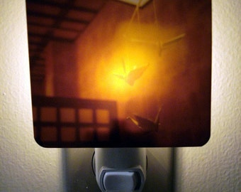 Clearance DISCONTINUED Polaroid Photo Night Light - Peace Cranes - Unique Housewarming Gift, Whimsical Home Nursery Decor,