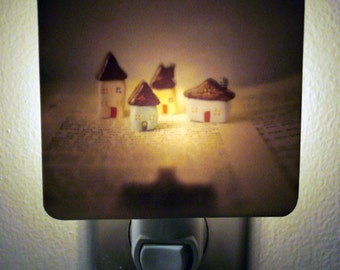 Clearance DISCONTINUED Polaroid Photo Night Light - Little Village - Unique Housewarming Gift, Whimsical Home Nursery Decor, Functional