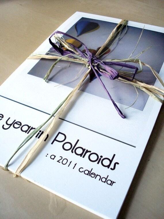 Polaroid 2011 Calendar - The Year in Polaroids - FREE SHIPPING