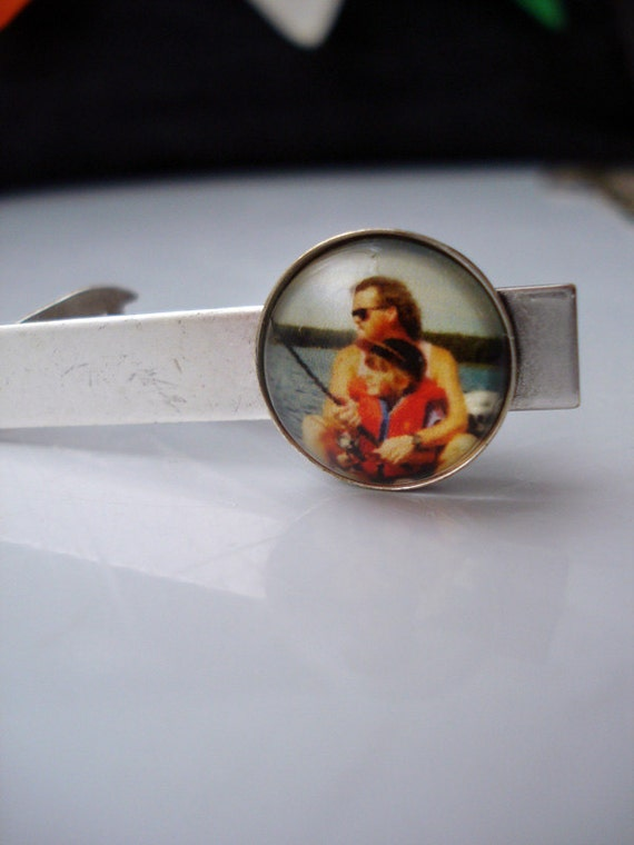 Custom Tie Clip - Antique Silver or Bronze - Personalized with YOUR Photograph or Image - Customized Gift for Dad, Husband, Groomsmen
