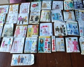Lot of 46 Sewing Patterns Baby, Toddler, Girl