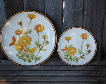 Vintage Mikasa Natural Beauty Southern Sun Dinner and Salad Plate